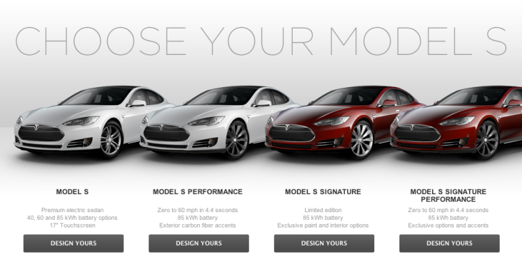 Choose Your Model S Tesla
